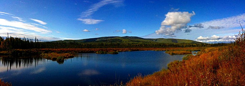 Peat ponds panorama