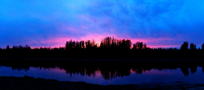 Sunset over the Chena River