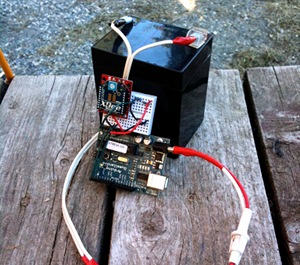 Battery, Arduino, XBee