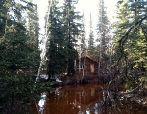 Back cabin, high water
