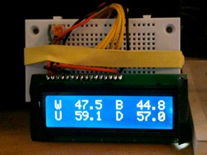 Arduino temperature display