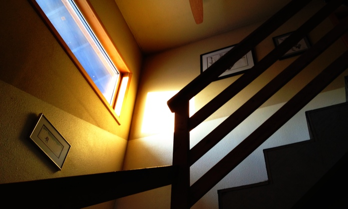 Stairs in sunlight