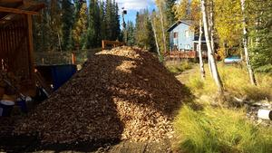 Thirty yards of wood chips